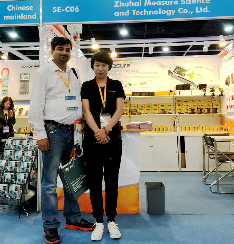 We were in HongKong Electronics Fair and showed our Laser Distance Meter,Laser Level and Laser Sensor there