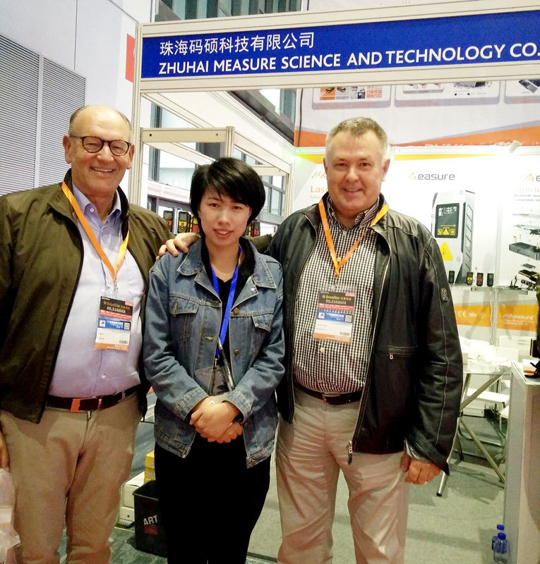 New product MS7 laser measure tape be showed in China Internationale Hardware Show