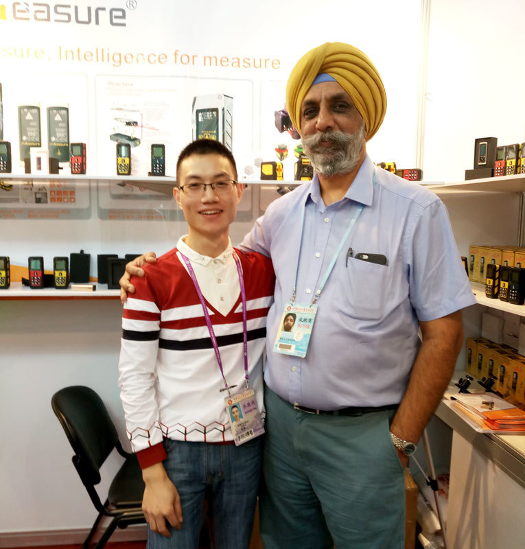 Meet and discussed our laser sensor in HongKong  Electronics Fair