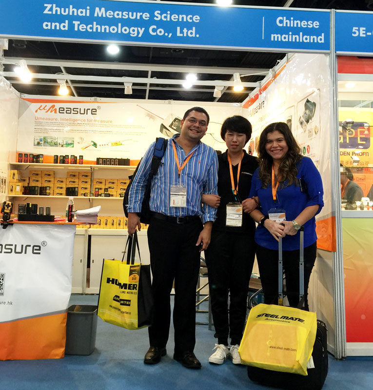 The new product MS6 smart  laser distance be showed in HongKong Electronics fair