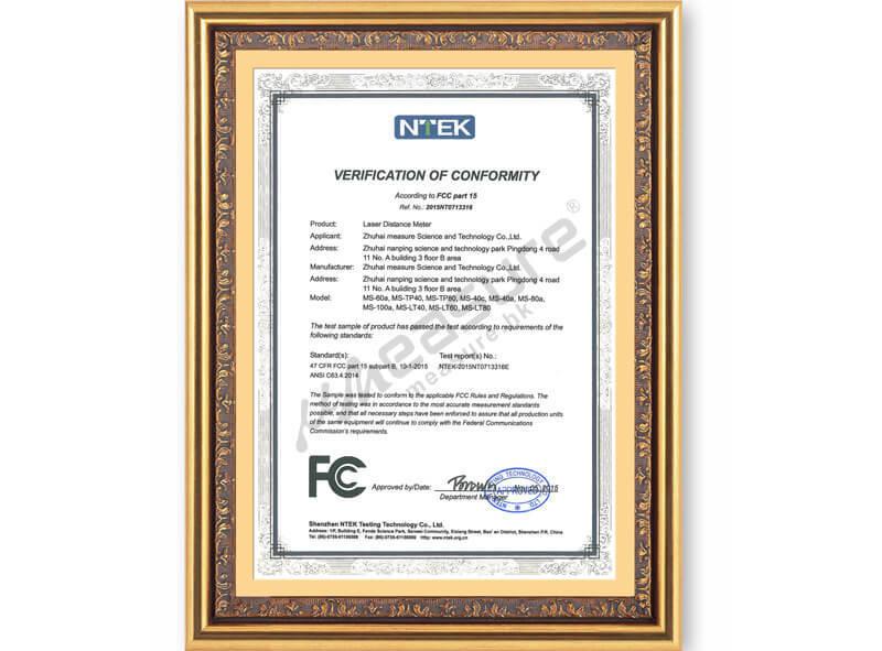 Patent certificate - verification of conformity