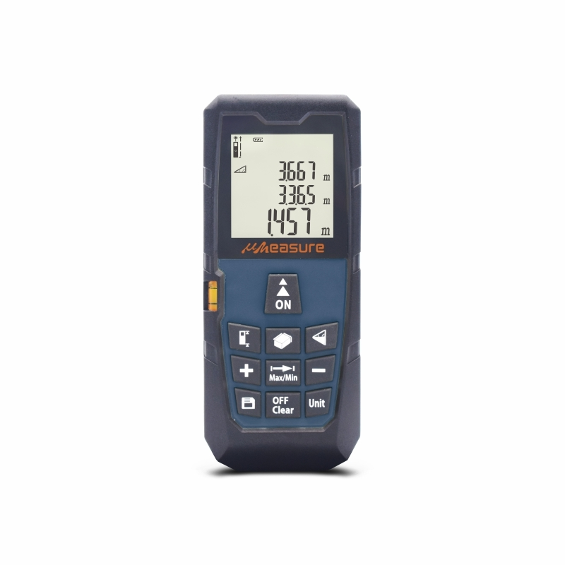 Electronic tape measure with bubble level and pythagorean mode 262ft
