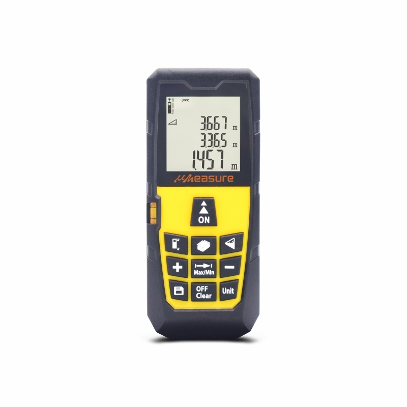 Handhold digital laser measure with large LCD backlit display 328ft