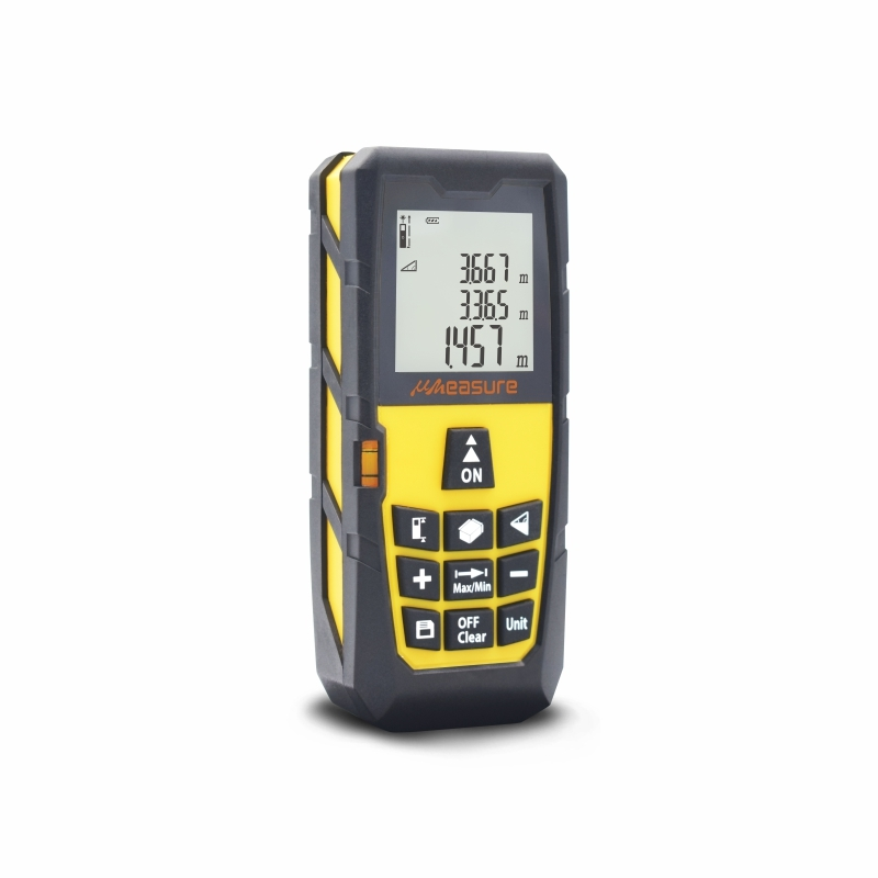 Handhold digital laser measure with large LCD backlit display 328ft