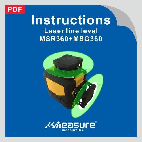 Laser line level MSR360,MSG360
