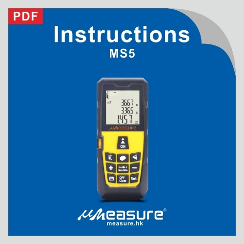 Laser distance meter MS5 specification+manual +packaging